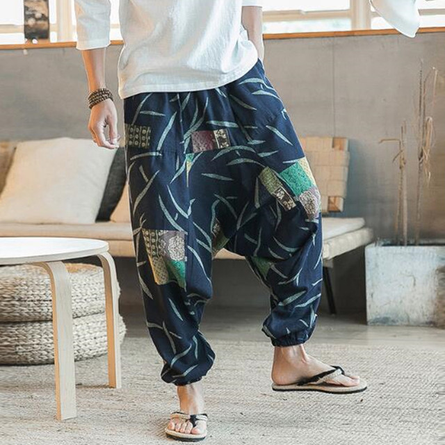 Mens Womens Yoga Pants Unisex Loose Drop Crotch Floral Yoga Joggers Aladdin Harem Trousers Pants Fitness Clothing ropa#H3