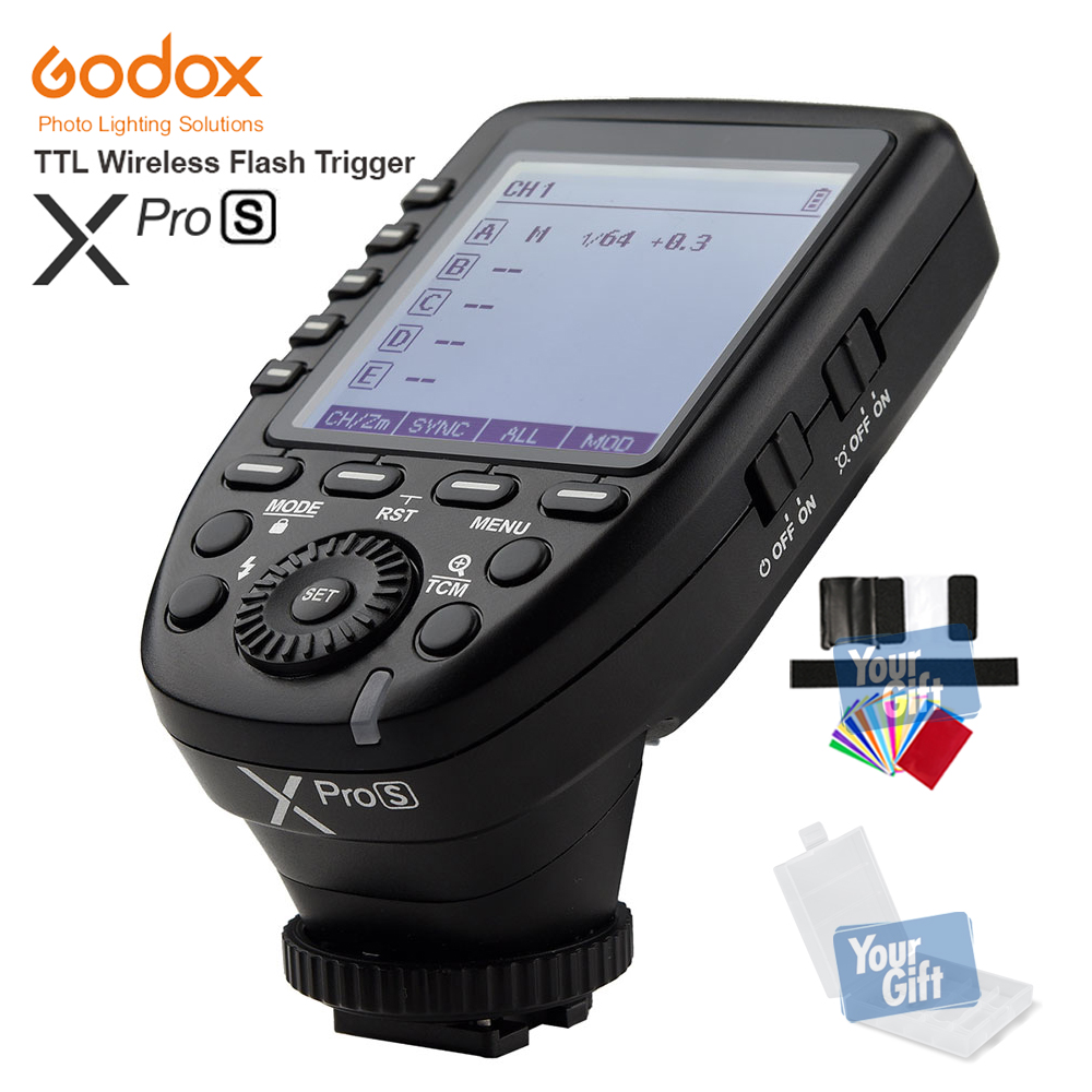 In the Stock!!! New Arrival Godox TTL II 2.4G Wireless X system High-speed with Big LCD Screen Transmitter Xpro-S For Sony new restaurant equipment wireless buzzer calling system 25pcs table bell with 4 waiter pager receiver