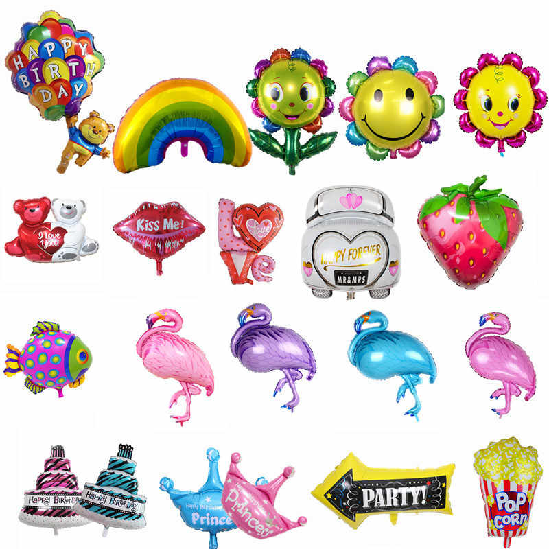 Фольга воздушные шары Фламинго Радуга пирог в виде медвежонка медведь баллоны с гелием День рождения Свадьба Декор воздушные шары для праздника вечерние поставки