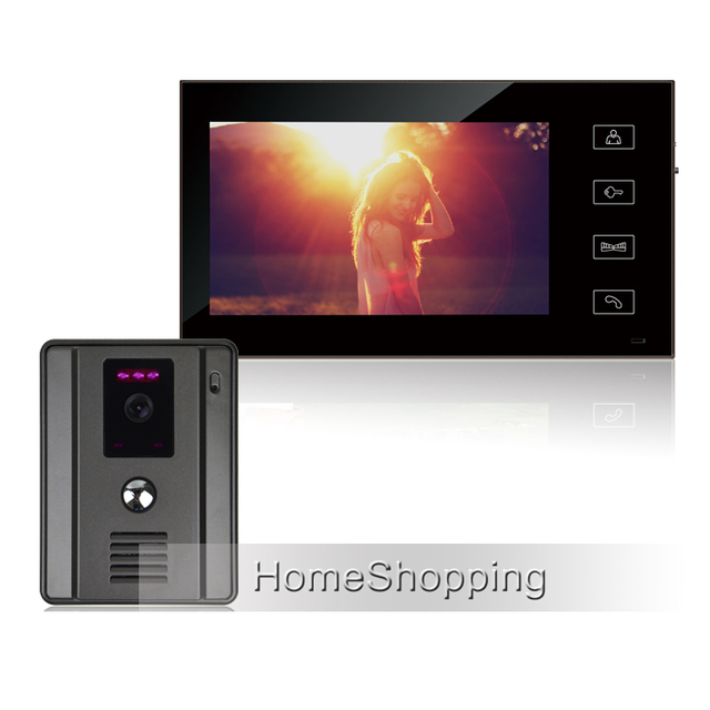 "FREE SHIPPING New Wired 7"" Color Touch Sensor Button Screen Video Door Phone Intercom System + 700TVL Doorbell Camera IN STOCK"