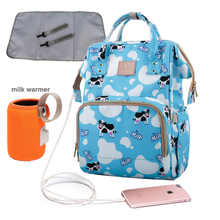 USB Diaper Bag 4pcs Set Nappy Bag Waterproof Maternity Travel Backpack Designer Nursing Bag Baby Care Stroller Printing Handbag - DISCOUNT ITEM  38% OFF All Category