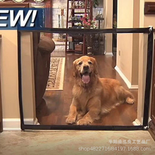 Drop shipping Dog Gate The Ingenious Mesh Magic Pet Gate For Dogs Safe Guard and Install Pet Dog Safety Enclosure Dog Fences New недорого