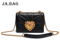Female Fashion Heart Shaped Lock Buckle Chain Messenger Women Bags,Genuine Leather Shoulder Bags Handbags,Leisure Crossbody Bag