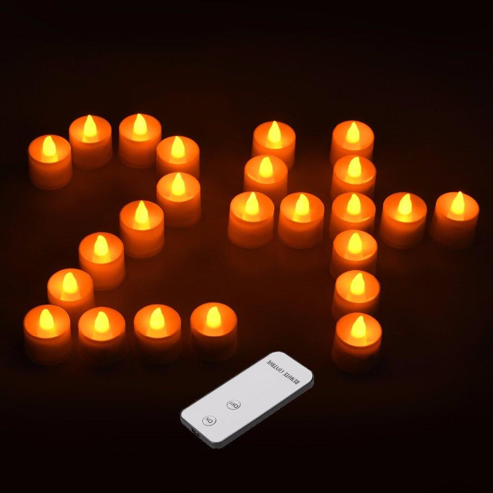 2019 Neuestes Design Rantion 24 Teile/satz Led Kerze Tee Lichter Mit Batterie Fernbedienung Haus & Garten Kerze Lampe Für Hochzeit Geburtstag Party Weihnachten Urlaub Diy Decor