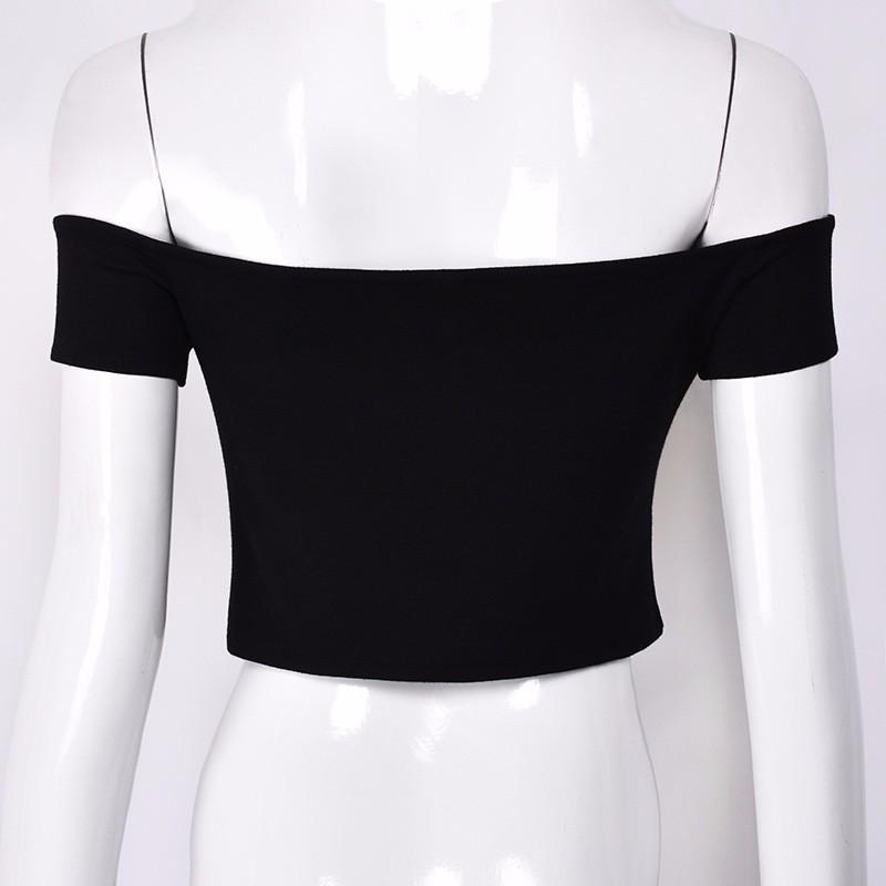 HTB1z7UbOFXXXXbSaXXXq6xXFXXXb - FREE SHIPPING Sexy V Neck Crop Top Short Sleeve Tube T Shirts JKP271
