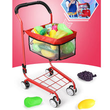 Children's simulation play house toy shopping cart toy large baby supermarket trolley fruit give boys and girls the best gift(China)
