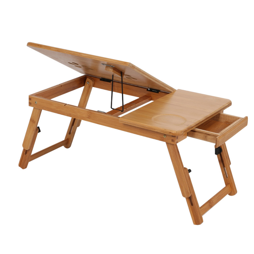 Adjustable Computer Desk Portable Bamboo Laptop Folding Table Foldable  Laptop Stand Desk Computer Notebook Bed Table In Computer Desks From  Furniture On ...