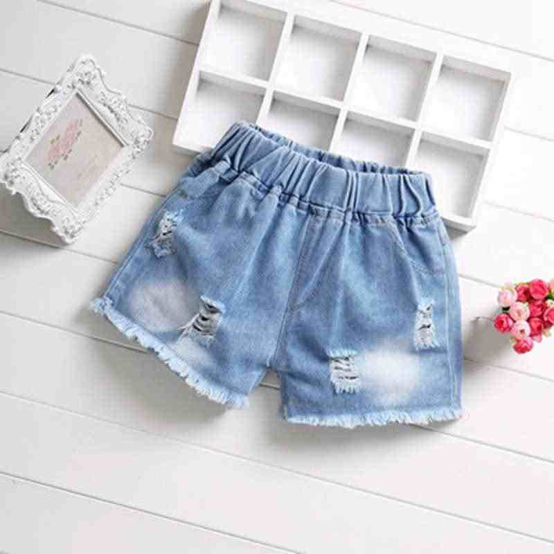 Summer baby kids Girls Jeans Shorts Kids Girls Cute Hole Shorts Jeans Pants Denim Shorts trousers Children Clothing