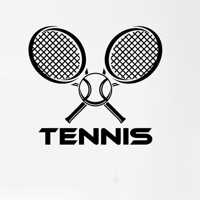 Tennis sticker car window sports decal muurstickers posters vinyl wall decals parede decor mural tennis sticker