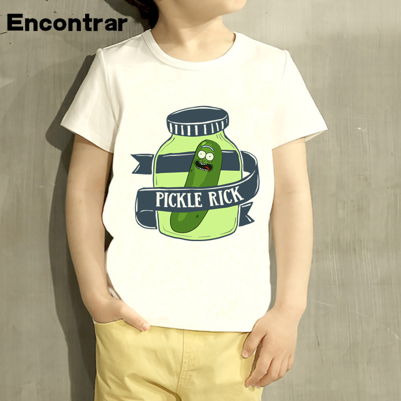 Kids Rick And Morty dabbing Pickle Rick PDesign Baby Boys/Girl TShirt Kids Funny Short Sleeve Tops Children Cute T-Shirt,HKP4076