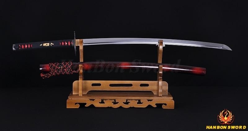 Χειροποίητο Full Tang Ιαπωνικό σαμουράι - Διακόσμηση σπιτιού - Φωτογραφία 3