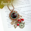 Специальный новинка макси ожерелье золота длинное ожерелье натуральной сосны себе ожерелье чешского украшения для девушки женщины XL150905