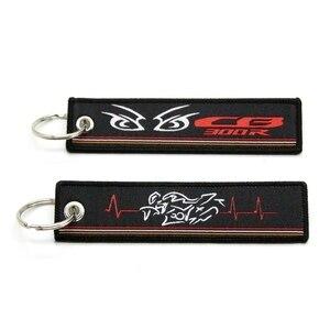 Image 4 - Für Honda CB500X CB1000R CB650F CB300R Neue 2019 Motorrad Schlüssel Kette Woven Schlüssel Ring Tag Label Kette Schwarz Auto Keychain