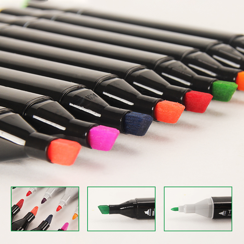 30 40 60 80 168 Drawing Pen Set Brush Markers Alcoholic Oily Based Ink Art Markers for Manga Dual Headed Sketch Art Supplies in Art Markers from Office School Supplies