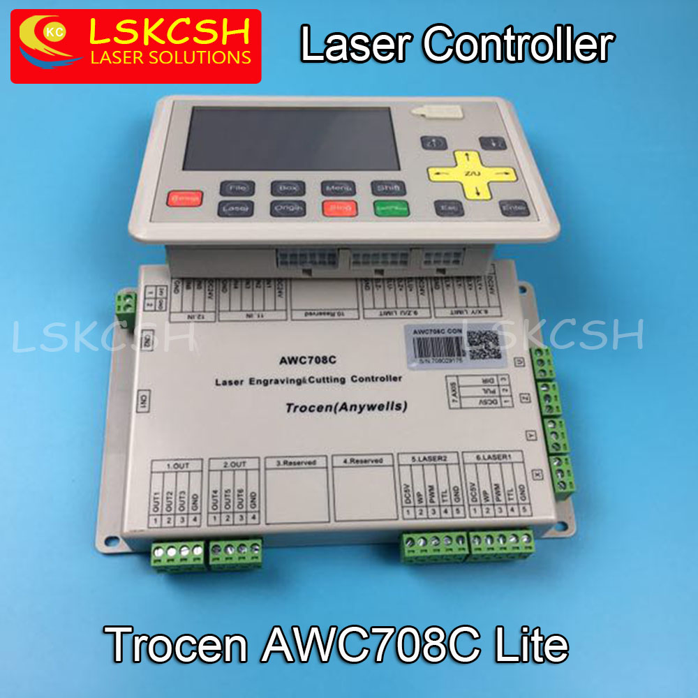 Free Shipping AWC708C Lite Co2 Laser Controller For Co2 Laser Spare Parts Laser Cutting/Engraving Machines Wholesale цена