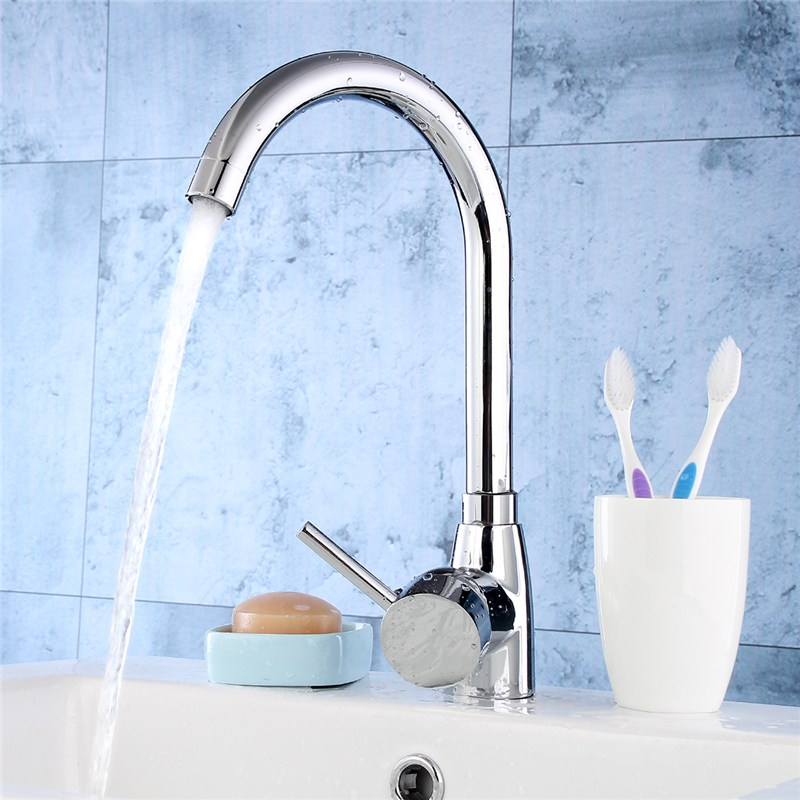 Xueqin 1 SET Brass Kitchen Faucet Mixer Cold and Hot Kitchen Tap Single Hole Water Tap Torneira Cozinha Chrome Plated Hot Sale