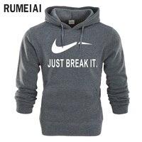 RUMEIAI 2017 Hoodies Men Hombre Hip Hop Mens Brand Letter Hooded Coat Skateboard Hoodie Sweatshirt Slim