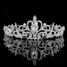 Luxury Wedding Bridal Crystal Tiaras Crowns Princess Queen Pageant Prom Rhinestone Veil Tiara Headband Wedding Hair Accessories