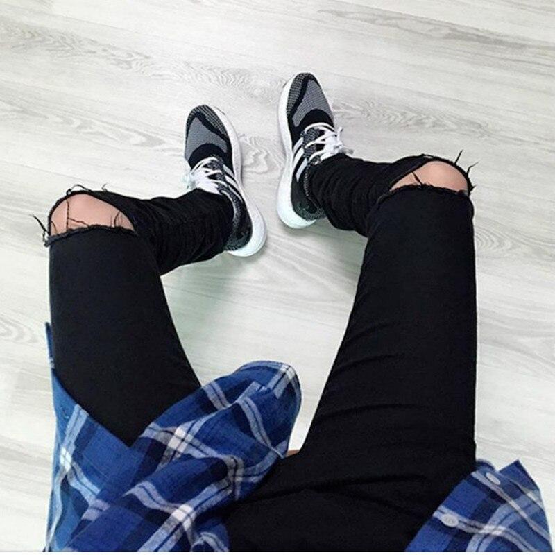 NEW Ripped biker jeans for men skinny destroyed Washed Black designer hip hop swag rock Denim kanye west hole pants plus size mens fashion designer skinny distressed slim jeans biker hip hop hole blue black elestic denim jeans ripped jeans for men