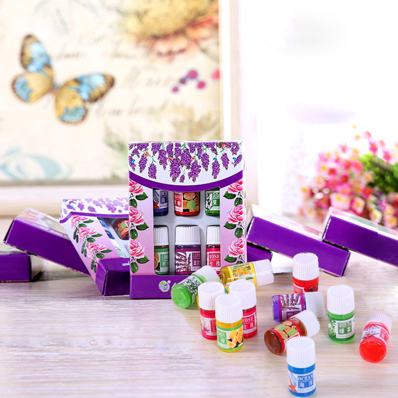 6pcs/set Essential Massage Aroma Oils Rose Lavender Essential Oils For Aromatherapy Diffusers Massage Fragrances Lemon Oil