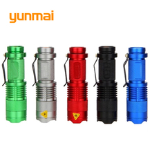 Powerful Cree XPE/Q5 Led flashlight Mini Torch Portable Light one Mode Small Penlight Flash Light Hunting By AA/14550 Battery