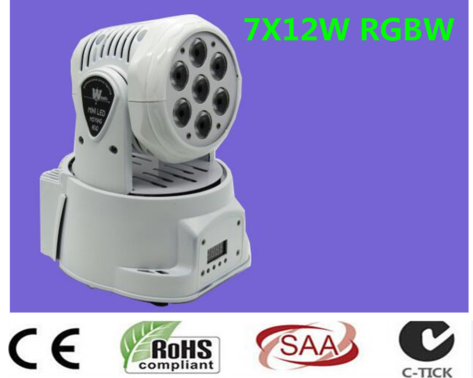 2 pz/lotto led mini wash moving head light 7x12 w rgbw quad dmx 9/14 canali