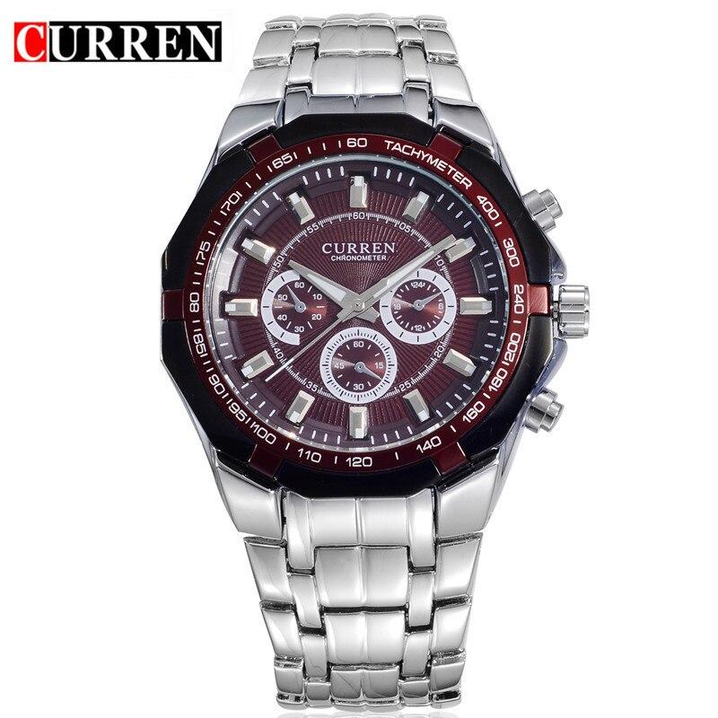 Mens Watches Top Brand Luxury 2018 CURREN Full Steel Quartz  Men's Wrist Watch Fashion Sport Male Clock Relogio Masculino