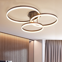 New Arrival Circle rings designer Modern led ceiling lights lamp for living room bedroom Remote control ceiling lamp fixtures