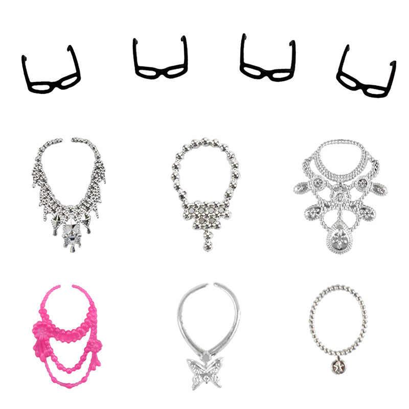 Doll Clothes Mix 32 Item Accessories Dress Glasses Necklaces Handbag Shoes