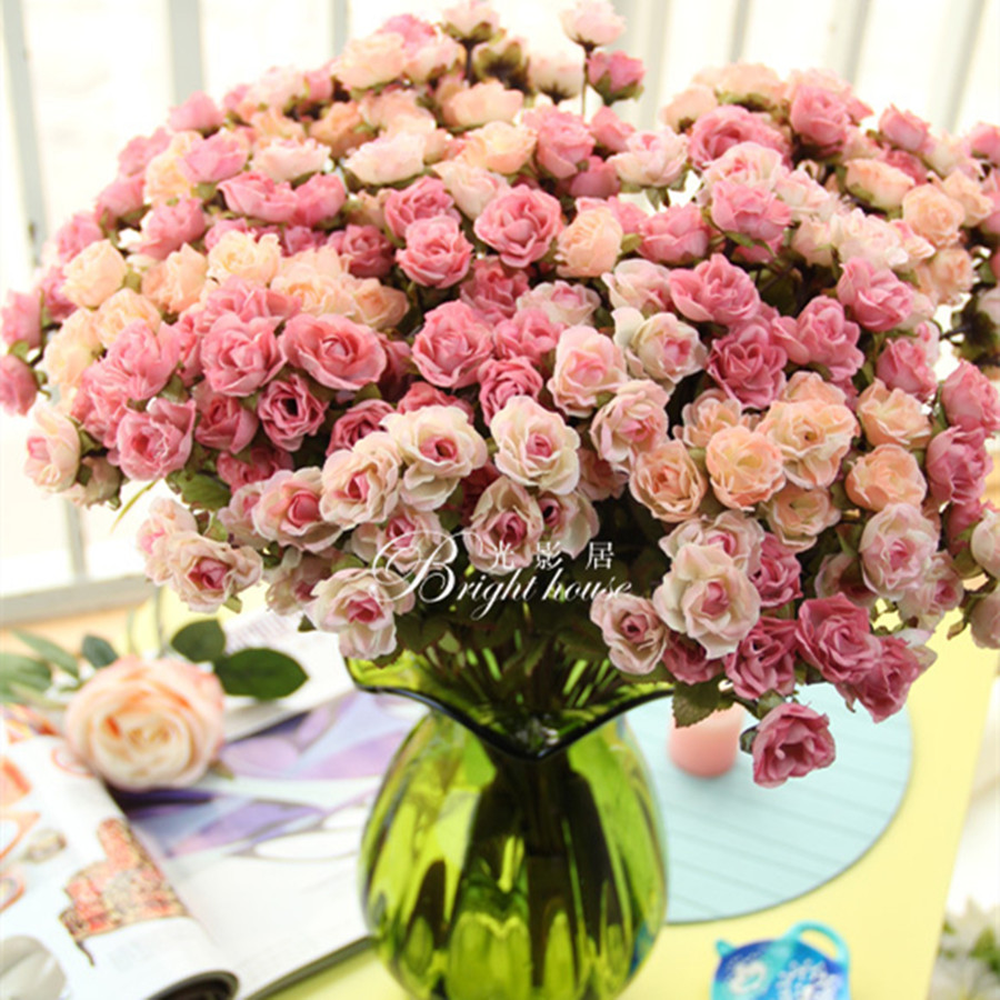 Wedding flower decortion large victoria rose artificial flowers wedding flower decortion large victoria rose artificial flowers bouquet silk flower wedding supplies rose decoration mariage in artificial dried flowers izmirmasajfo