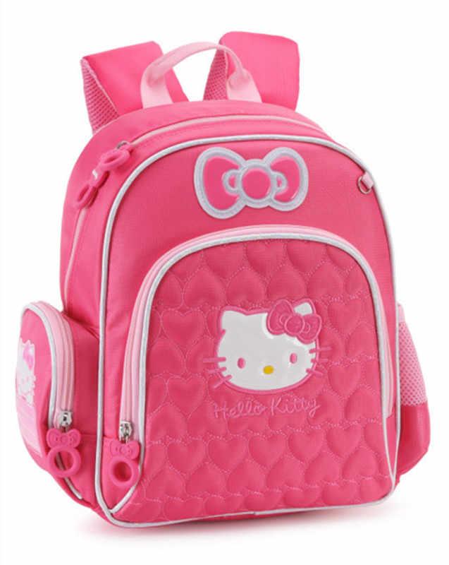 05c10c9ee742 Cute Cartoon Pink Hello Kitty Bag Kindergarten Preschool Backpacks Kids Bag  Schoolbag Children School Bags Baby