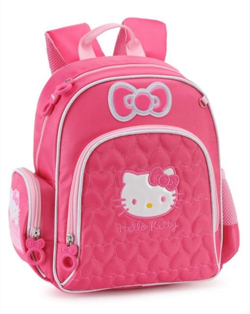 ebb7c78f9 Cute Cartoon Pink Hello Kitty Bag Kindergarten Preschool Backpacks Kids Bag  Schoolbag Children School Bags Baby