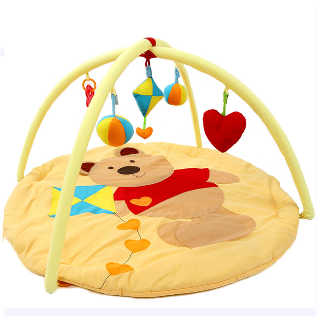 Симпатичный Медведь Детские Игрушки Ребенка Играть Мат Ползет Игра Мат Детские музыкальные Тренажерный Зал Новорожденного Подарки Игровой Деятельности Малыш Carpet-BYC161 PT49