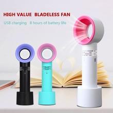 цена на Mini Fan Cooler Bladeless-Fan Ventilator Student Portable Desktop Handheld Usb Charging Small Fan
