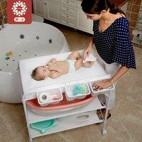 Hong Kong Baby Care платформа для новорожденных ванна массажная кровать сенсорный складной пеленки изменить
