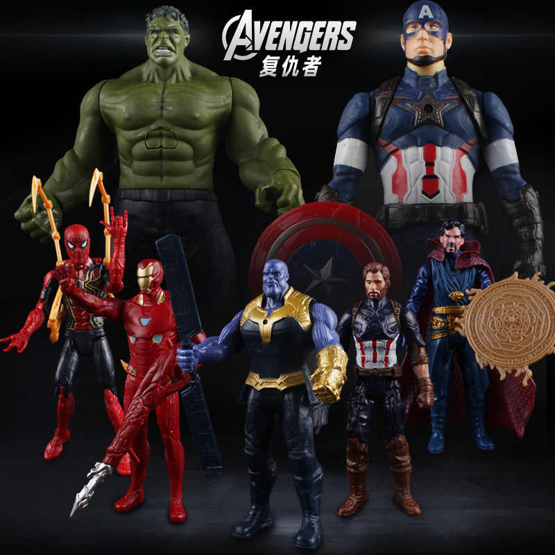 Marvel Avengers ENDGAME Super Heros Captain America Ironman Spiderman hulk thor Supereroe Action Figure Giocattoli di Ferro spider man