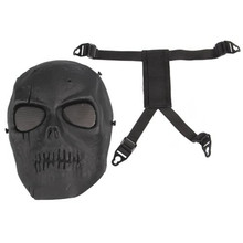 Airsoft Black Skull Mask