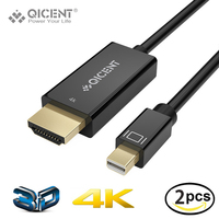 QICENT Thunderbolt Mini DP To HDMI Cable Male To Male Adapter For Macbook Pro Air Projector