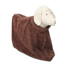 Сушильное банное теплое полотенце с капюшоном для кошек банное полотенце для домашних животных Груминг за домашним животным изделие супервпитывающее средство для собак и кошек