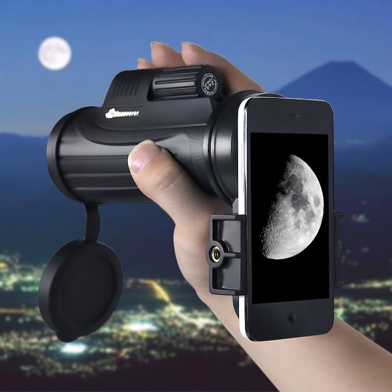 ФОТО VDA 12x42 Monocle Observation Large Field of View + BAK4  Waterproof Telescope+(mobile phone adapter)