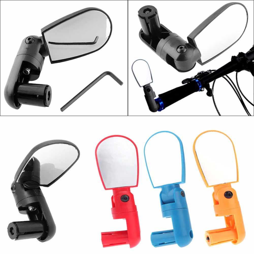 Cycling  Mountain Bike Handlebar Mini Rearview Mirror Wide Angle Rear Rotate Flexible View Mirrors Universal Adjustable Accessor