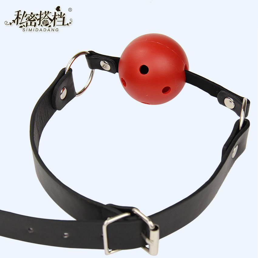 Pu Leather Band Ball Mouth Gag Oral Fixation Mouth Stuffed Adult Games For Couples Flirting Sex Products Toys 1 Pcs