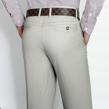 Summer thin cotton middle-aged men's casual suit pants
