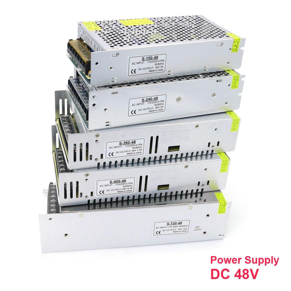 Ac para dc 48 v 3a 5a 7.5a 10a 15a 20a 150 w 240 w 360 400 w 500 w 600 720 w 800 w 1000 w w fonte de alimentação de comutação para luzes led