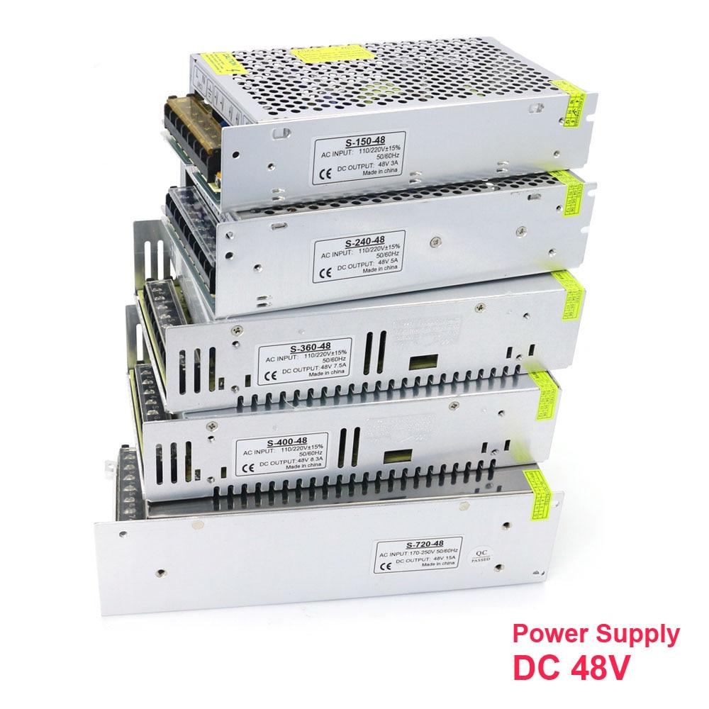 Ac zu Dc 48V 3A 5A 7.5A 10A 15A 20A 150W 240W 360W 400W 500W 600W 720W 800W 1000W Schalt Netzteil für Led-leuchten