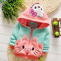 Осень теплая зима ребенок младенцы девушки с капюшоном милый мультфильм хлопок кофты пальто куртки кардиган верхней одежды и пальто MT416