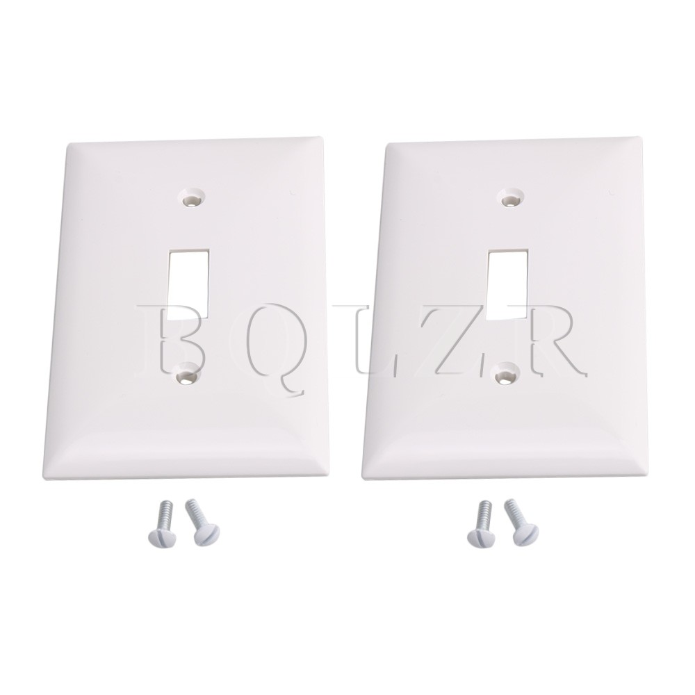 Bqlzr White Plastic 1 Gang Toggle Decorator Wall Plateswitch Plate