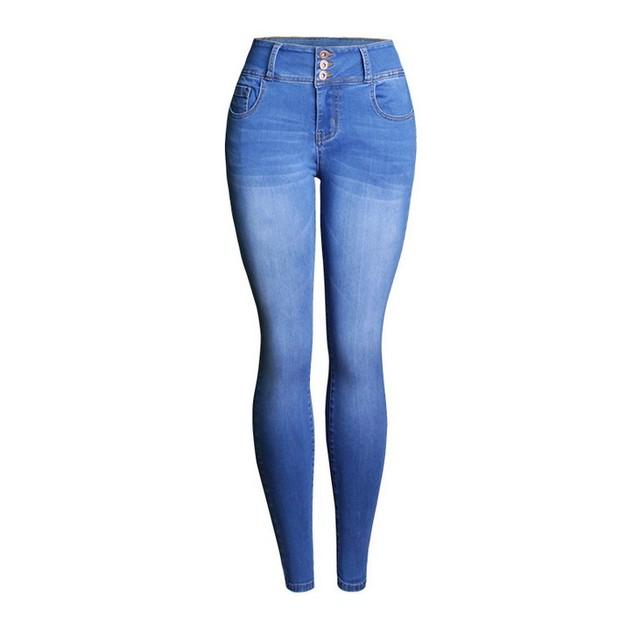 Women High Waist Skinny Denim Jeans