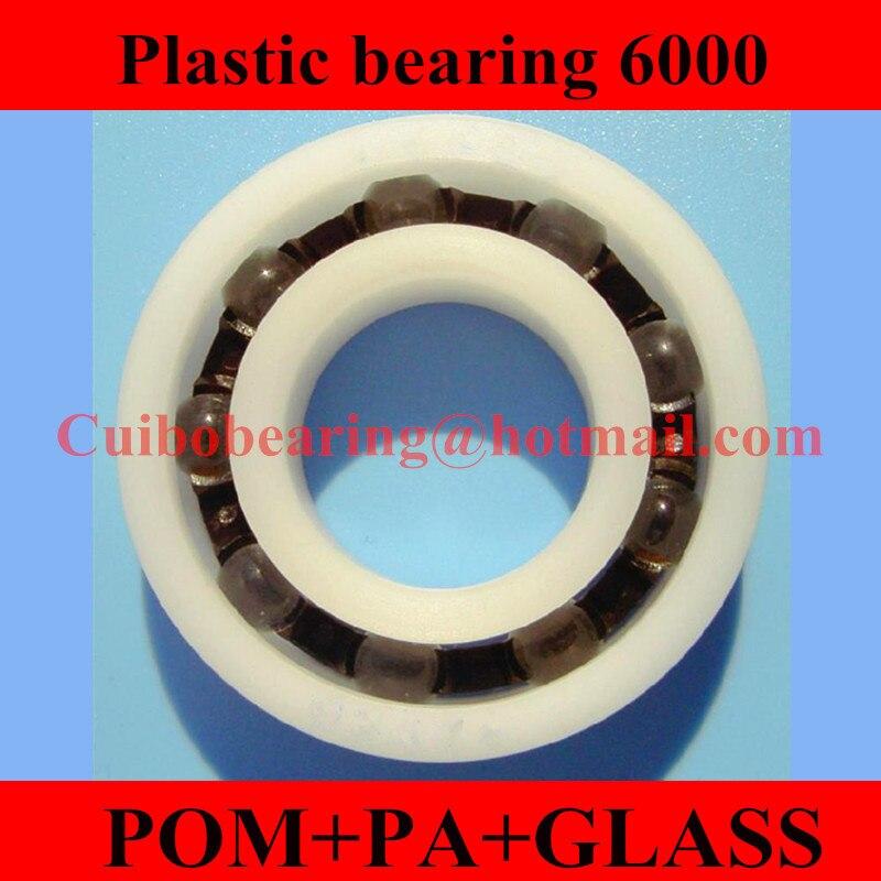 2 PCS Plastic Bearing PP 626 Glass Balls 6x19x6 Ball Bearings