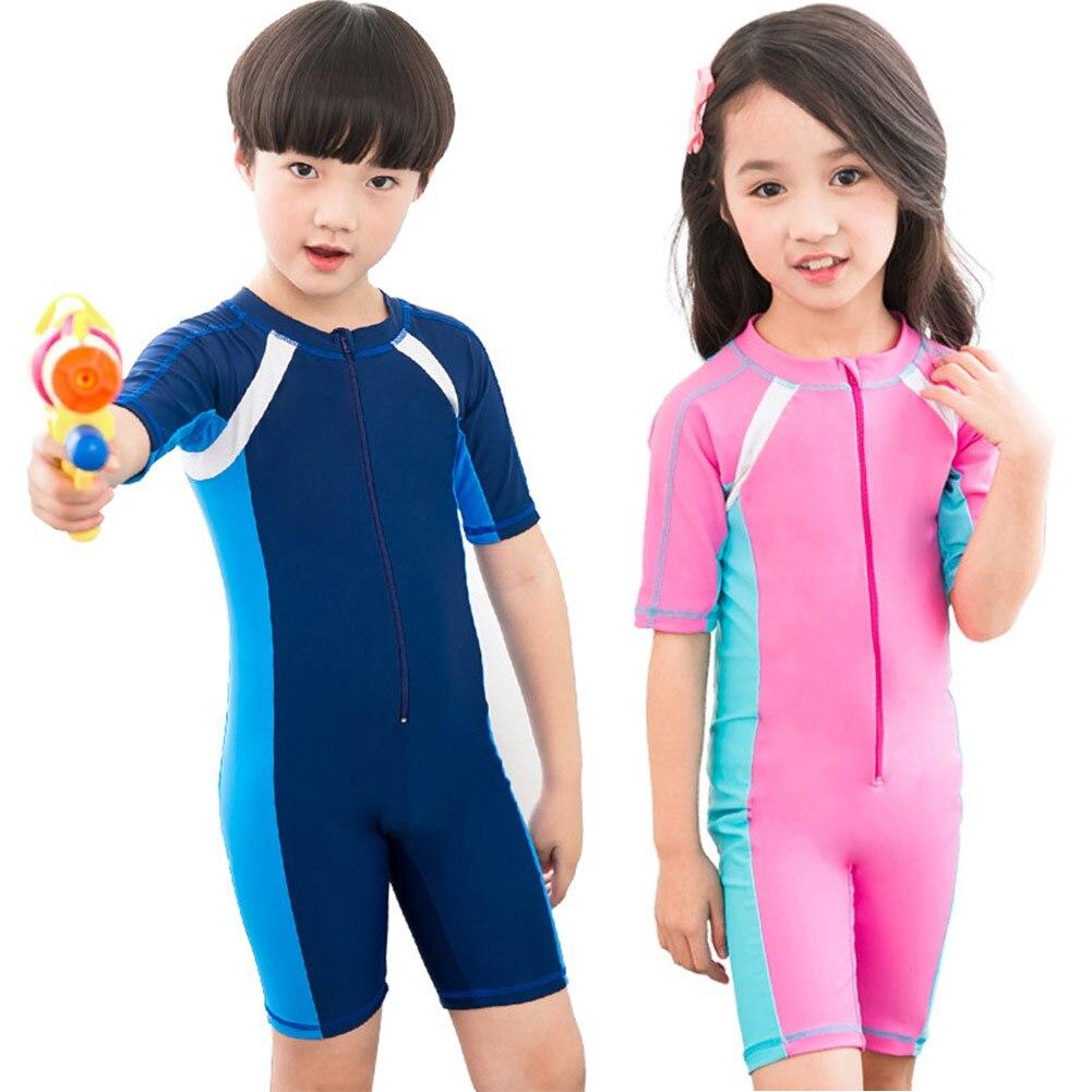 Child Boys Girls Swimwear One Piece Swimsuits Bathing Suits Kids Beach Wear Diving Swimming Suit B2Cshop